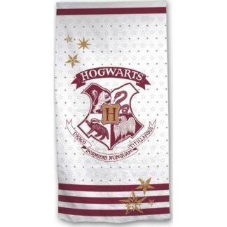 Harry Potter - Drap de bain blanc blason Poudlard  ( 70 x 140 cm)