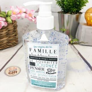 Gel hydroalcoolique pour les mains -Les règles de la famille (300 ml)