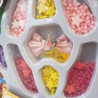 Coffret perles à bijoux et boite licorne