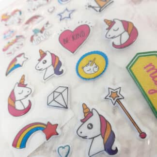 Autocollants stickers licorne