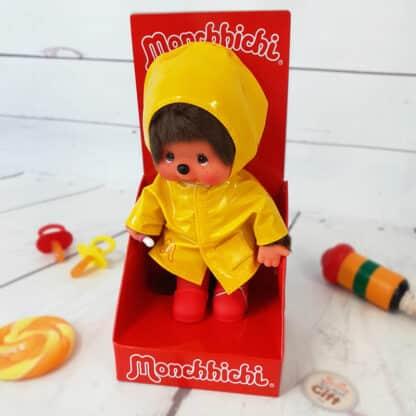 Peluche Monchhichi Kiki - Ciré Jaune (20 cm)
