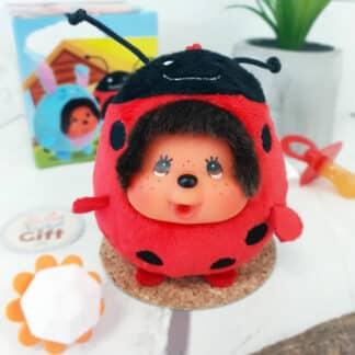 Peluche Monchhichi Kiki mini ball - Coccinelle