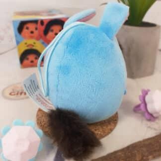 Peluche Monchhichi Kiki mini ball - Lapin bleu