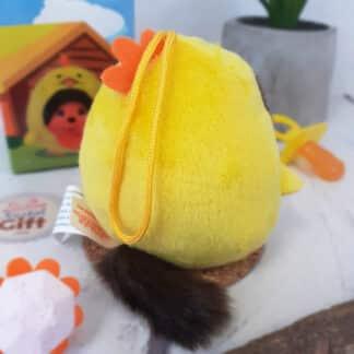 Peluche Monchhichi Kiki mini ball - Poussin jaune