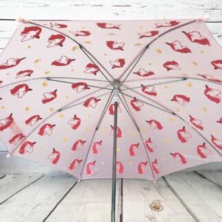 Parapluie magique rose licorne changeant de couleur