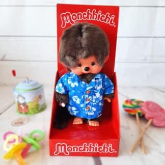 Peluche Monchhichi Kiki Hawaï (20 cm)