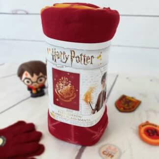 Harry Potter - Plaid polaire blason Poudlard et étoiles
