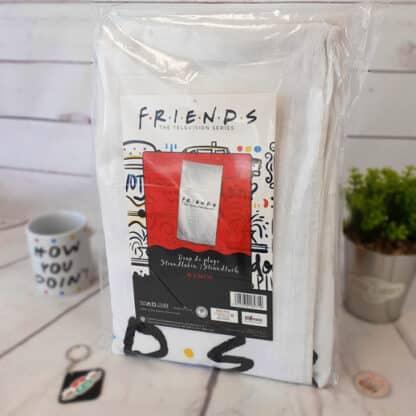 Friends - Drap de bain blanc en coton  ( 70 x 140 cm)