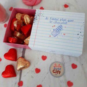 Je vous aime destin mini coeur tin cadeau pour I Heart destin avec chocolats
