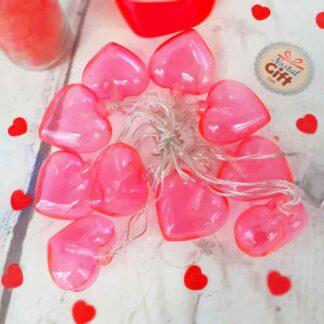 Guirlande lumineuse cœurs roses