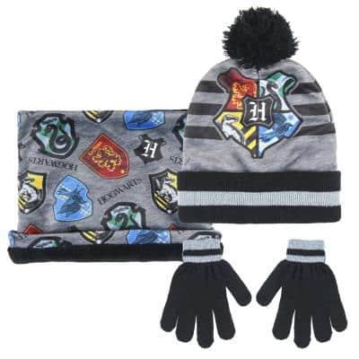 Harry Potter - Ensemble bonnet, cache-cou et gants pour enfant Poudlard