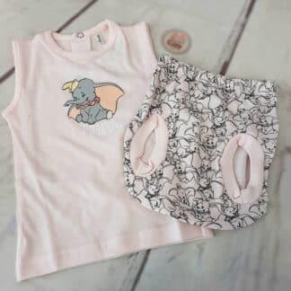 Disney - Ensemble vêtement Dumbo rose pour bébé