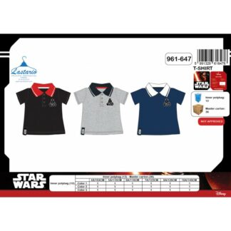 Star Wars- Polo enfant Dark Vador noir et rouge manches courtes