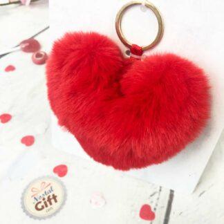 Porte-clés peluche cœur