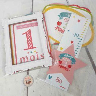 """Cartes de souvenirs bébé - """" Ma première année """""""