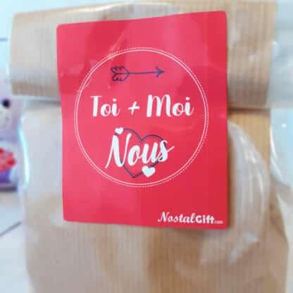 Sachet Bonbon des années 80 - Saint-Valentin  - Toi+Moi