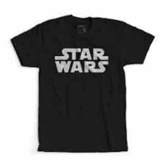 Star Wars - T-shirt pour adulte noir et bleu avec logo