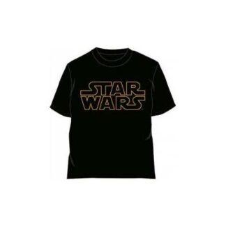Star Wars - T-shirt pour adulte noir et jaune avec logo