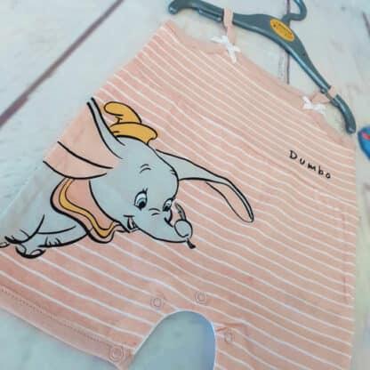 Disney - Barboteuse body à bretelles Dumbo pour bébé