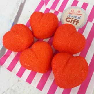 Bonbon guimauve cœurs géants (Bulgari) x 5