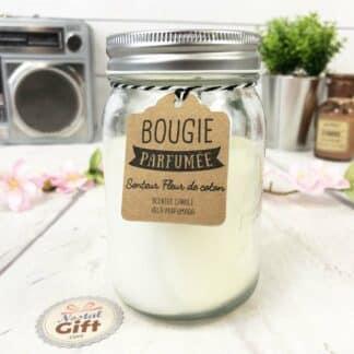 """Bougie Jar """" Bonne fête Grand-mère"""" - cadeau fête des grands-mères"""