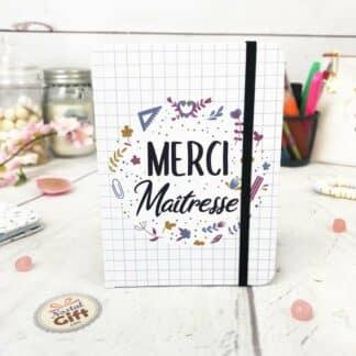 Carnet de note « Merci Maîtresse » - Cadeau Maîtresse - Collection Florale