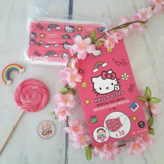 Hello Kitty - Masque barrière jetable pour enfant x 10