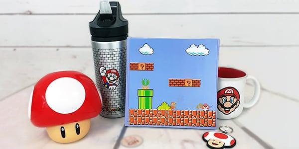 Retrouvez l'univers de Mario et ses amis sous forme de  Porte clés, mugs, bouteille d'eau ou pez, venez dénicher vos personnages préférés.