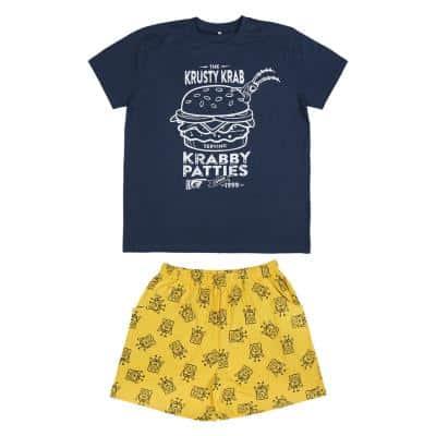 Bob l'éponge - Ensemble de pyjamas short Krusty Krab