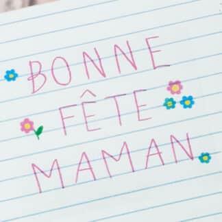 """Boîte de chocolat - Cœur chocolat fourrés x20 - """"Bonne fête Maman"""""""