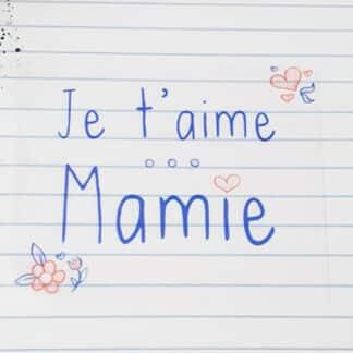 """Boîte de chocolat - Cœur chocolat fourrés x20 - """"Je t'aime Mamie"""""""