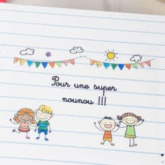 """Boîte de chocolat - Cœur chocolat fourrés x20 - """"Pour une super Nounou"""""""