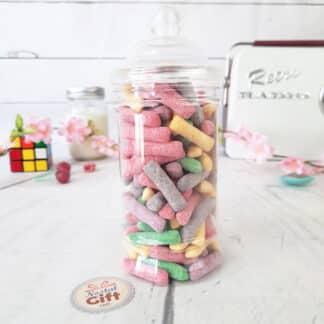 """Bonbonnière Maman - Bonbon craie acide au fruit 300g - """"Pour une super maman"""""""