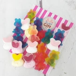 Bonbons de Pâques - Assortiment de petits lapins gélifiés x 20