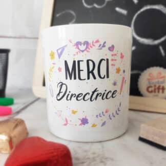 "Bougie avec bijou ""Merci Directrice"" - Collection florale"
