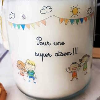 """Bougie Jar - """"Pour une super Atsem"""""""