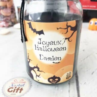 Bougie Jar personnalisée - Halloween (Prénom)