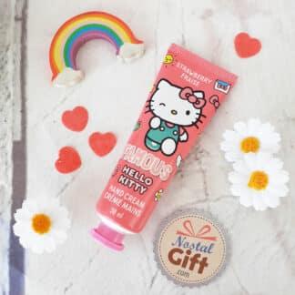 """Hello Kitty - Crème mains Parfum Fraise """" Famous """""""