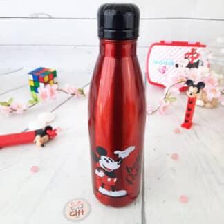 Disney - Bouteille d'eau rouge en acier inoxydable Mickey rétro