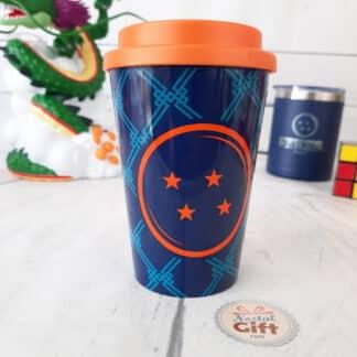 Dragon ball - Mug de transport orange et bleu (390 ml)