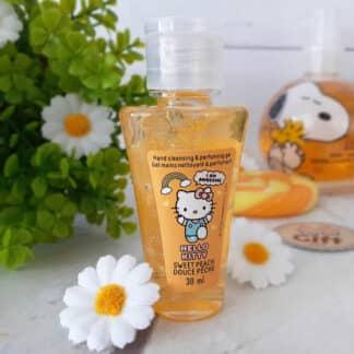 Gel désinfectant hydratant pour les mains - Hello Kitty - Parfum pêche