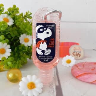 Snoopy - Gel désinfectant hydratant pour les mains parfum fraise