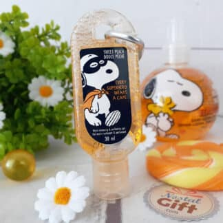 Snoopy - Gel désinfectant hydratant pour les mains parfum pêche