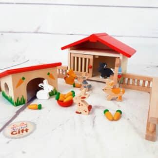 Jouet en bois - Clapier à lapins Goki