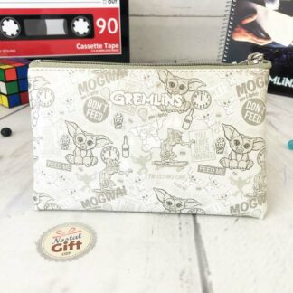 Gremlins - Pochette rectangulaire grise imprimée de motifs Gremlins