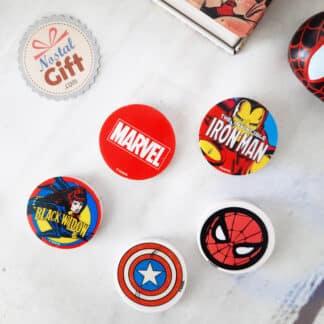 Marvel - Set de 5 gommes rondes