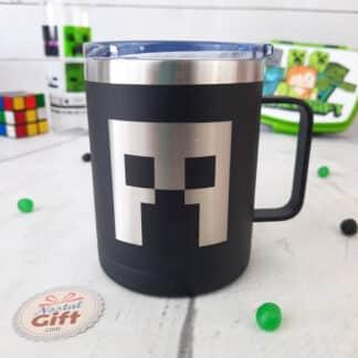 Mug isotherme noir Minecraft