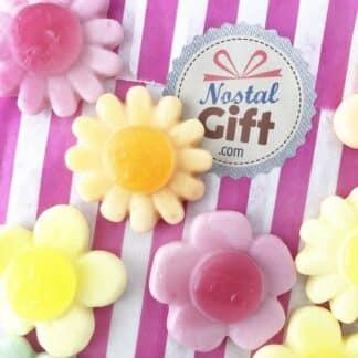 Bonbon Fleur gélifiée colorée x 10