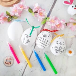 Activité de Pâques - Lot de 4 œufs de Pâques à décorer