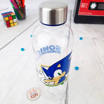 Sonic The Hedgehog - Bouteille d'eau transparente